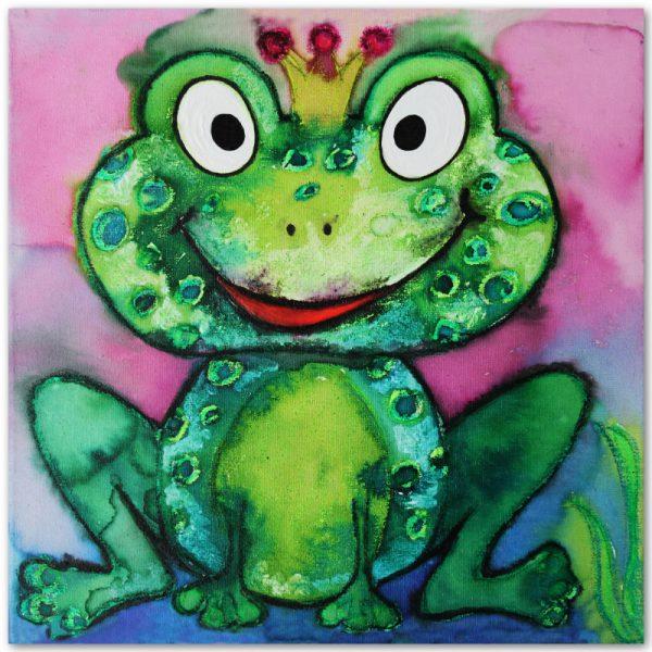 Prinz Froggy Postkarte Vorderseite