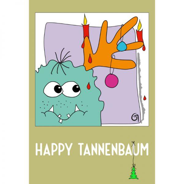 Happy Tannenbaum - Postkarte