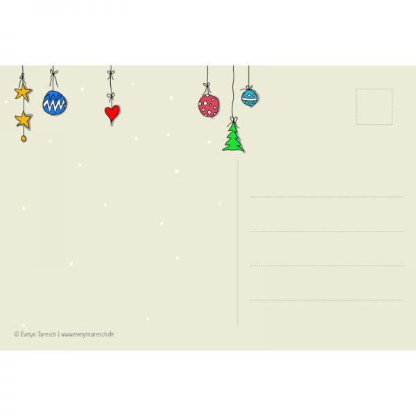 Happy Tannenbaum - Postkarte Rückseite