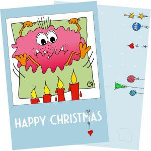 Happy Christmas – Postkarte