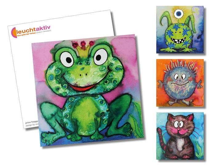 Postkartenmotive aus der Welt der Monster