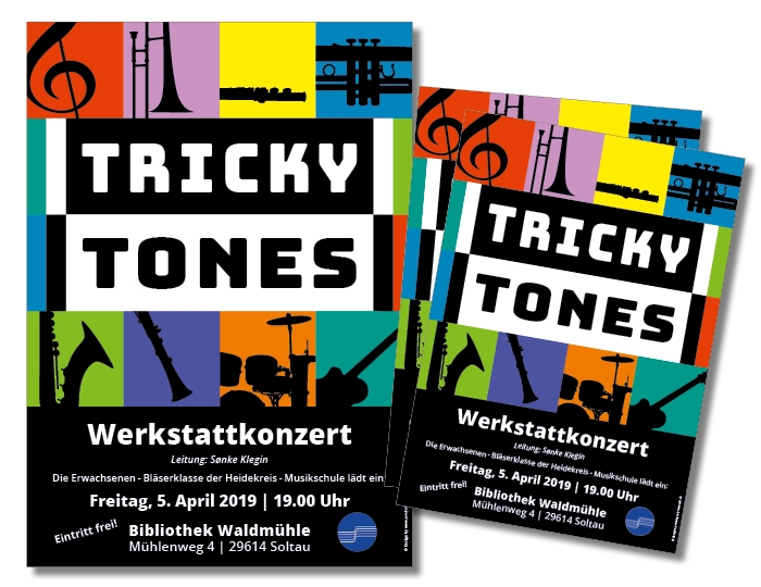 Tricky Tones | Plakatgestaltung